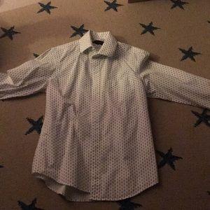 Boys guitar dress shirt